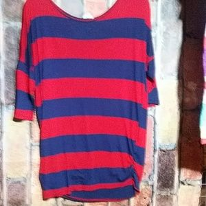 Red and blue stripe large top